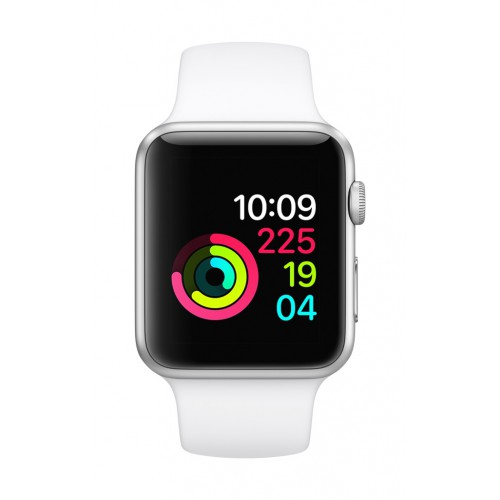 Apple Watch Series 1, 42mm Silver Aluminum Case with White Sport Band