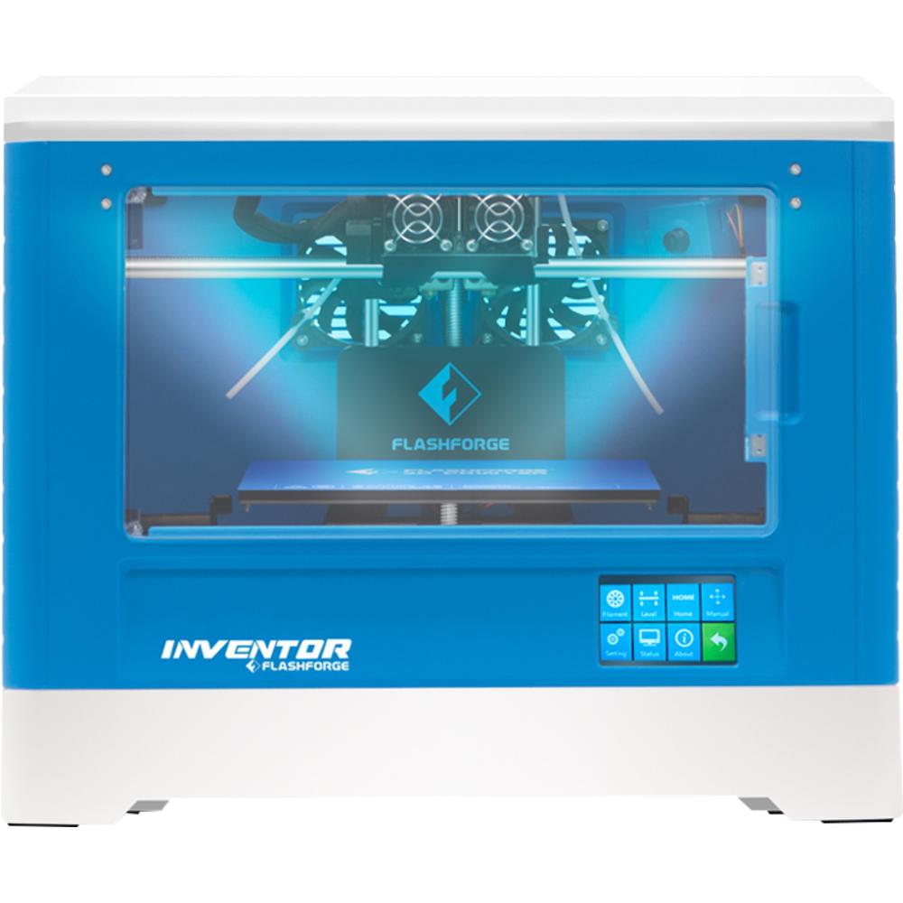 FlashForge Inventor 3D Printer with 3D Printing Curriculum - Blue-White