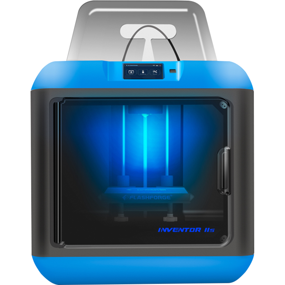 FlashForge Inventor 2S 3D Printer with 3D Printing Curriculum - Blue-White