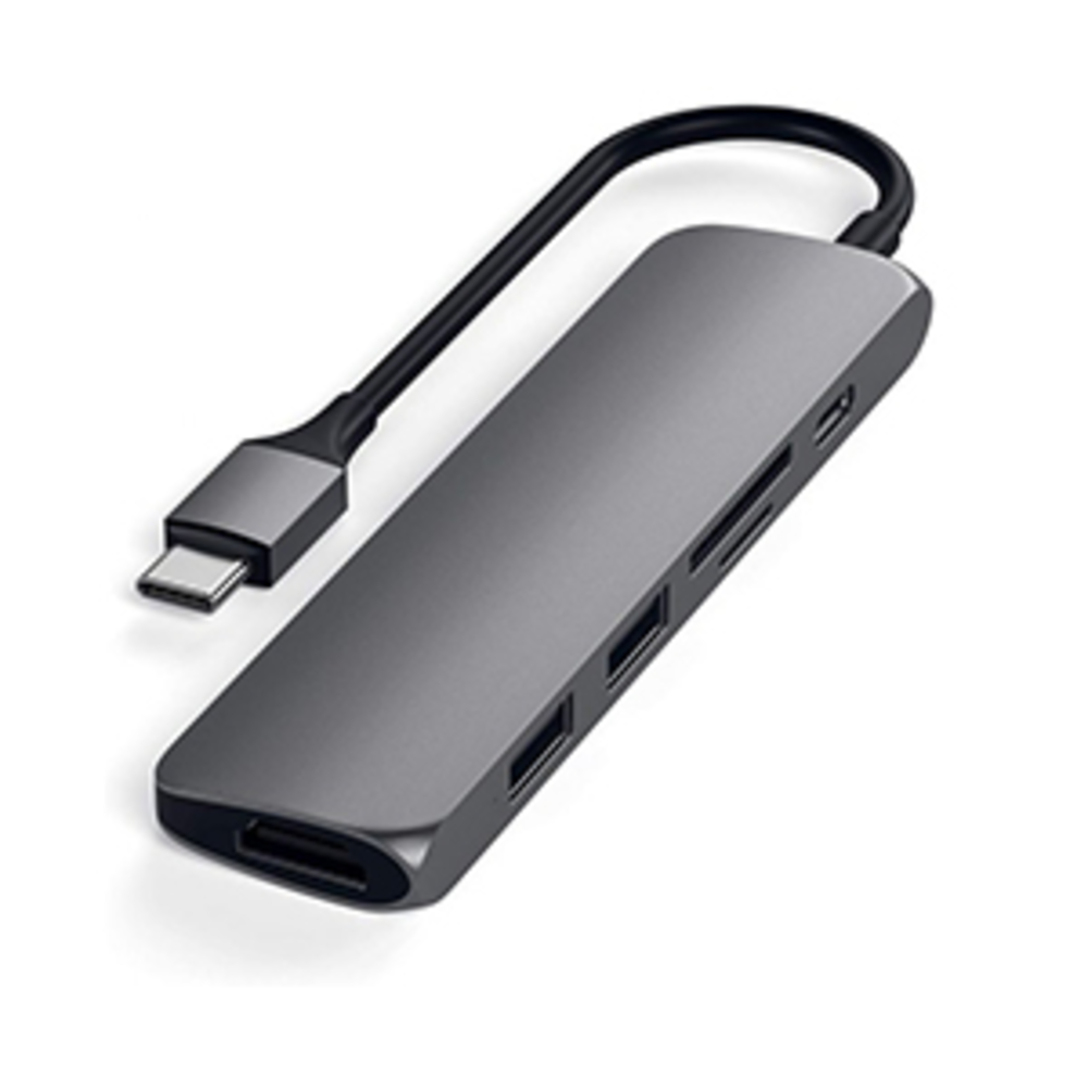 Satechi Slim Multiport V2 Adapter-Space Gray