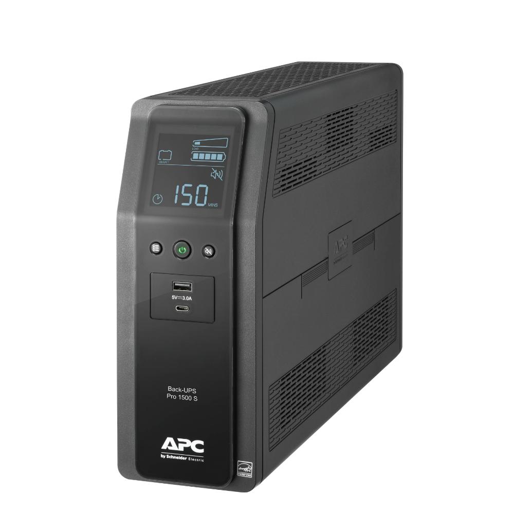 Back UPS PRO BR 1500VA, SineWave, 10 Outlets, 2 USB Charging Ports, AVR, LCD interface